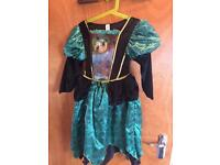 Girls Green Witches Dress Age 7-8