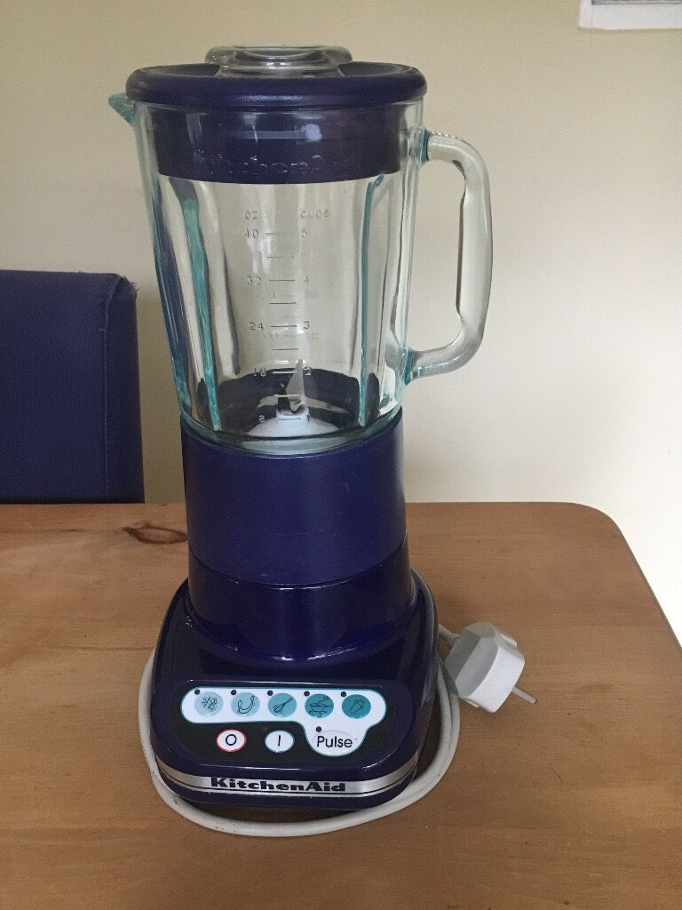 kitchenaid ultra power blender. kitchenaid ultra power blender - navy blue. complete with instruction manual and recipe booklet kitchenaid