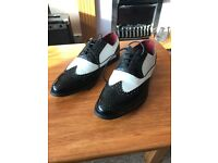 Giovanni black and white brogues (size 9.5)