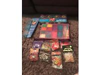 Massive set of loom bands, multiple tools, clasps, charms, instructions and storage box .
