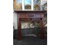 Really nice solid antique wood fire surround