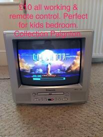 Portable TV perfect for kids room.