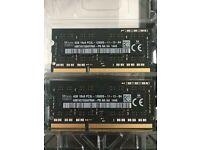 HYNIX - 2x 4GB DDR3 PC3-12800,1600MHz, 204 PIN Memory/Ram