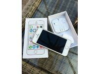 iPhone 5s gold, 16gb, original box, excellent condition