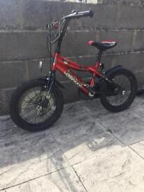 Kids Last Ride 12inch Bike Red/Black with Stabilisers