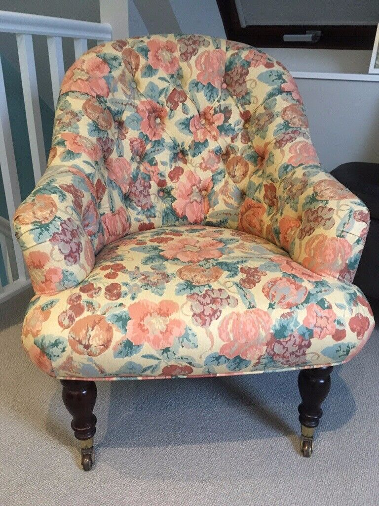 Small armchair upholstered in Monkwell fabric | in ...