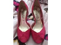 New pink shoes size 3