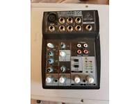 dj mixer amp cables and flight case