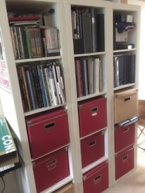 Expedit 1 x 5 cubes white (x3)