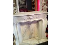Fire surround and mirror £100
