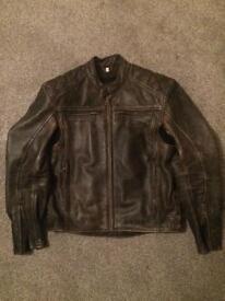 Weise Thruxton leather motorcycle jacket RRP £259.99 Classic Vintage Retro Cafe Racer
