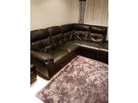 Black corner sofa leather