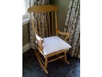Pine Rocking Chair. Ercol style. Excellent condition.