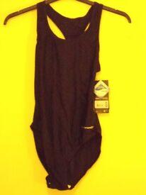 Ladies Rucanor Alice Black Swimming Costume. Size Large