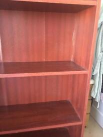 Large Mahogany Coloured Bookcase