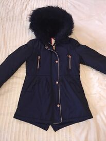 Girls navy Ted Baker coat age 11 excellent condition!