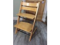 Stokke Trip Trap baby/toddler adjustable high chair