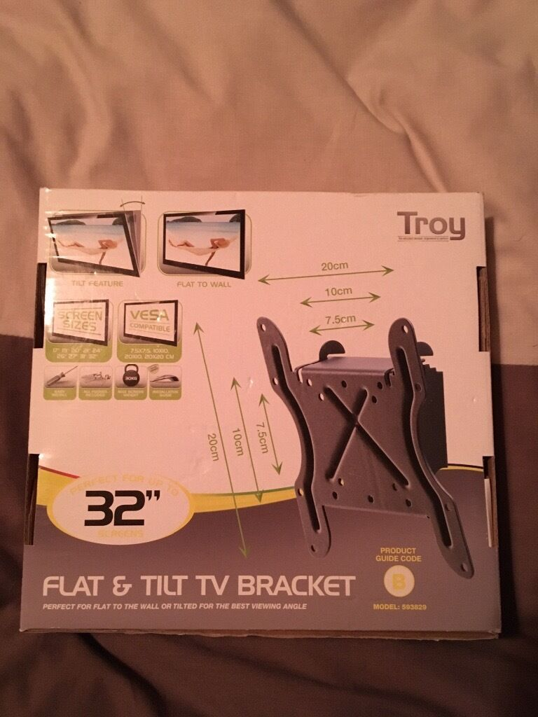 Troy flat and tilt TV bracket up to 32 inch
