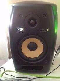 Pair of KRK VXT6 Studio Monitors in black (1 month old) in black - NO OFFERS