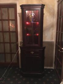Mahogany Effect Display Cabinet