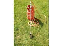 Single Headed Gas Burner & Gas