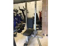 Commercial Grade Shoulder Press Bench with Spotter - Weights Gym