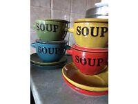 Soup bowls and plates set