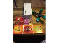Zumba dvd and dumbbell set