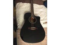 Fender electric acoustic guitar plus hiscox hard case