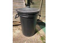 FREE Black plastic garden waste dustbin