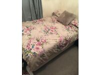 Double 3/4 bed and mattress for sale - has storage!