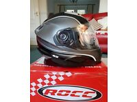 BRAND NEW ROCC 485 MOTORCYCLE HELMET (SMALL ) BNWT & BOX