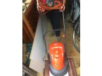 Flymo Hover Vac Electric Mower. Good working condition.