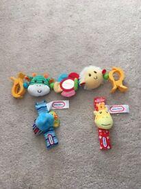 Pram toy & wrist rattles