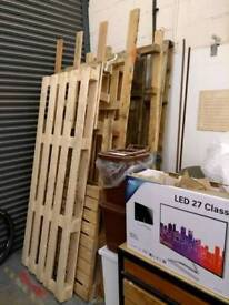 Timber pallets free uplift
