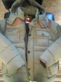 Boys thick padded army jacket