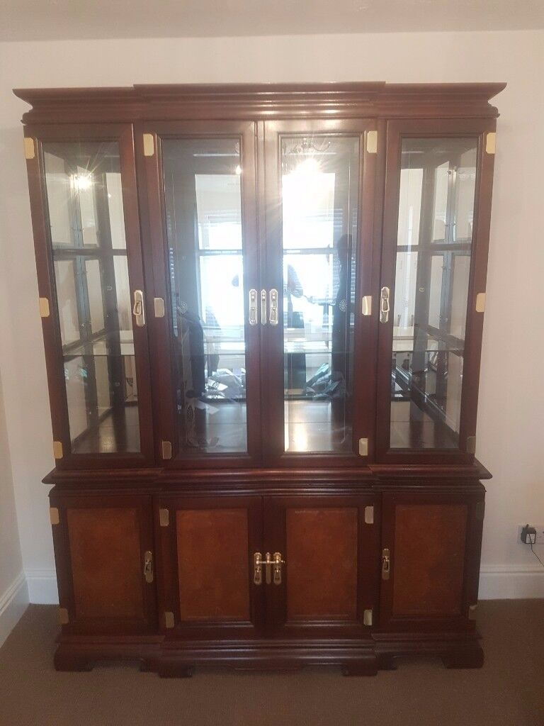 Beautiful hardwood and glass show cabinet
