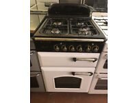 55CM WHITE LEISURE DUEL FUEL GAS COOKER