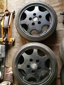 Porsche d90 with adaptors and nearly new tyres