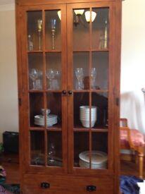 Dresser display cabinet