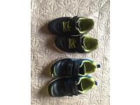 Clarks Boys Blue Trainers Shoes Size 10F and 11F