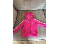 Girls Adidas Pink Hoody 12-18 Months