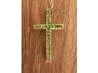 Green Stone Cross