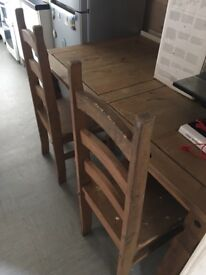 Solid pine dining table perfect for refurb