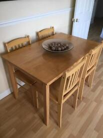 Dining Table and Chairs Wooden