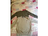2 x large men's Henri loydd jumpers