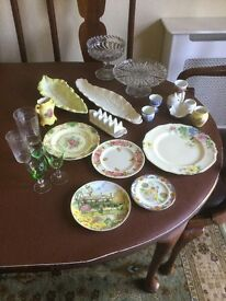 Vintage Job Lot 21 pieces of glass, pottery, china