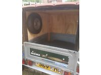 Daxara 107 modded trailer - spare wheel - wheel jockey - lights