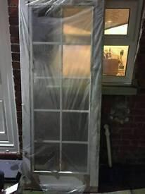 10 panel glazed white internal door