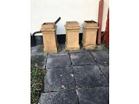 1856 vintage crown chimney pots very good condition